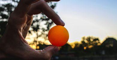 como reparar una pelota de ping pong